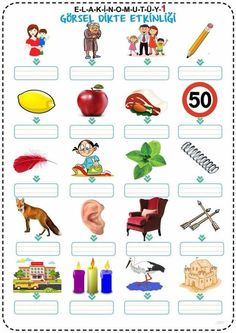- Home School English Worksheets For Kids, 1st Grade Worksheets, Turkish Language, English Course, Home Schooling, Design Thinking, Primary School, Grade 1, Special Education