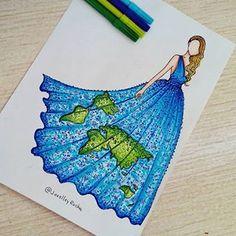 Earth (Fashion by JoeslleyRocha Earth Drawings, Cool Art Drawings, Amazing Drawings, Art Drawings Sketches, Disney Drawings, Pencil Drawings, Fashion Design Drawings, Fashion Sketches, Social Media Art
