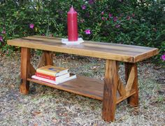 Reclaimed wood coffee table rustic modern by GreenSouthLiving, $185.00