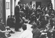 20-year-old bernie sanders leading a student sit-in against segregation at the university of chicago (1962)