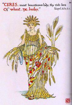 Walter Crane~ Flowers from Shakespeare's Garden