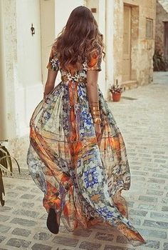 Sheer boho dress for warm days and long nights.