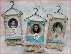LAYERED PAINT TECHNIQUE FRAMES | Shabby Chic ATC Ornaments