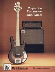 7b376a73a03674 Vintage advert for the Music Man Stingray electric bass, originally placed  in 1977