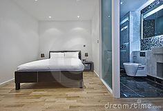 Camera da letto con la stanza da bagno della en-serie