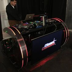 C DJ Booth - Professional DJ Booths - DJ Stands | ClearConsole™ Dj Rig, Dj Stand, Gym Interior, Professional Dj, Dj Party, Dj Booth, Dj Equipment, Bar, Desks