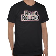 Hills Rolling - Logo on Black American Apparel T-Shirt.  Check out the music!  itunes.com/HillsRolling  www.HillsRolling.com