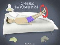 14 leg exercises you can do in bed. #legs #abs