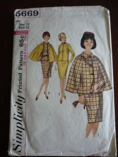 A vintage cape pattern! So cute. I need one.