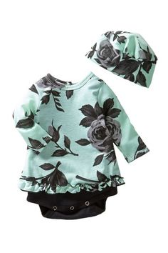 Bubble Dress & Hat Set (Baby Girls) by Mad Sky on @HauteLook