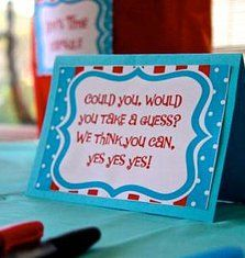 Jelly Bean Guessing Game Experience! Events - Burlington Event and Wedding Planner | Dr. Seuss Cat in the Hat 1st Birthday