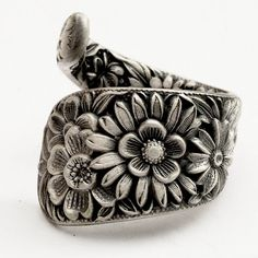 Antique Stieff Floral Sterling Silver Spoon Ring, Made in YOUR Size (769). $52.00, via Etsy.