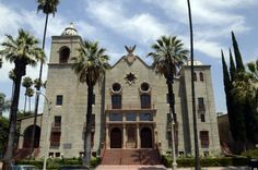 Riverside Municipal Auditorium, Riverside, CAL.  Opened on November 12, 1928, it also serves as a memorial to the 87 service members from Riverside County who died during World War I. This reinforced concrete Mission Revival style building was added to the National Register of Historic Places in 1978.  Arthur Benton and G. Stanley Wilson, arch.