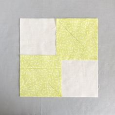 Set your first 2 corner squares for the Square-in-Square Block