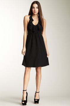 Alice & Trixie Dawn Silk Ruffle Halter Dress by Black & White: Apparel on @HauteLook $89