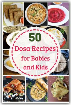 Dosas don't have to be plain! Check out these healthy dosa recipes for babies and toddlers for a variety of dosas made from millet, vegetables & more! Indian Recipes For Kids, South Indian Breakfast Recipes, Indian Food Recipes, Vegetarian Recipes Easy, Spicy Recipes, Baby Food Recipes, Healthy Recipes, Easy Recipes, Toddler Meals