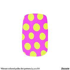 Vibrant colored polka dot pattern minx® nail wraps