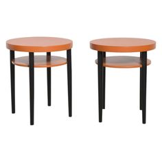 Set of Two Round Thonet Tables | 1stdibs.com