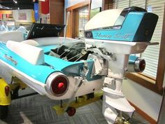 Maritime Museum: Thunderbird Tail lights on a skiff Speed Boats, Power Boats, Glass Boat, Cruiser Boat, Runabout Boat, Float Your Boat, Vintage Boats, Old Boats, Outboard Motors