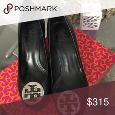 shoes wedge tory burch black Tory Burch Shoes Wedges