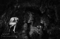 The cave by Lichterspiegel-Foto  girl beauty outdoor rocks summer beautiful female pretty model nude cave akt nudeart The cave... Lic