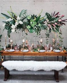 So much gorgeousness via @ruffledblog with this incredible botanical tablescape Styled by @boldeventcreative Planning @filosophi Photo @katwillson Florals @celsiafloral Rentals @abpartytime Stationery @lelechan