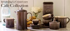Le Creuset's new Cafe Collection