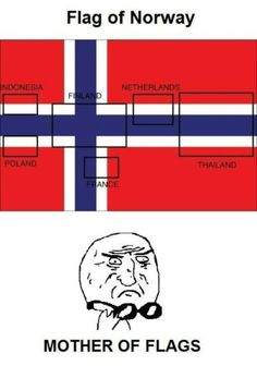 Norway p0wns Indonesia, Poland, Finalnd, France, Netherlands and Thailand! The Coolest Flags in Human History | io9