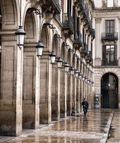 After the rain | Plaça Reial, Barcelona (Catalunya - Catalonia)