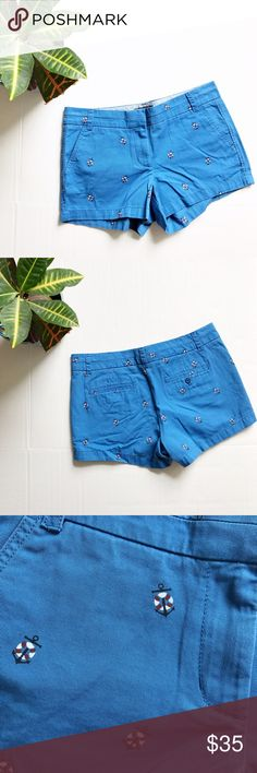 NWT J. Crew Chino Anchor and Buoy Short NWT Chino Anchor and Buoy Short from J. Crew. Size: 8. Color: Blue. A classic pair of chinos with a fun nautical print. Front and back pockets. 11.5 inches long. 100% cotton. J. Crew Shorts