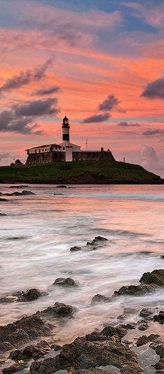 My Bahia. Lighthouse of Salvador - Bahia - Brazil Places Around The World, Around The Worlds, Beautiful World, Beautiful Places, Lighthouse Lighting, Brazil Travel, Lighthouse Pictures, Light Of The World, The Good Place