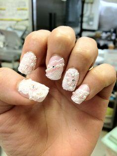 rimantic lace nails