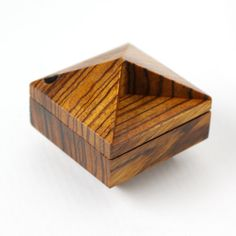 Exotic Zebrawood Pixie modern engagement box / by OhDierLiving
