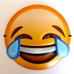 A cool emoji smiley mask that features the classic crying with laughter / tears of joy emoticon face. Just like the smiley on your mobile phone, this fun mask will certainly turn heads! Fancy Dress Masks, Masquerade Fancy Dress, Halloween News, Halloween Face Mask, Emoji Mask, Photo Face Masks, Pig Mask, Emoticon Faces, Cool Emoji