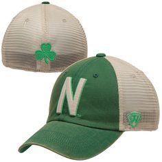 Top of the World Nebraska Cornhuskers Green Vintage Luck 1Fit Hat