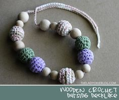 I love this. JMP Is pretty much too old for such a thing but I really love this. DIY Crocheted Nursing Necklace by AmandaBum