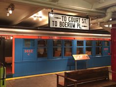 While many of the exhibits on the top floor are worth checking out, the real draw is the platform below where you'll find a whole station full of vintage MTA subway cars. Guide Book, Abandoned Places, Bridges, Planes, New York City, Trains, Boats, Old Things, Platform