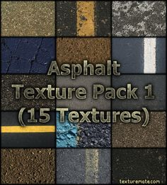 Free Texture Pack for Commercial Use -Asphalt Asphalt Texture, Texture Images, Photoshop, Texture Packs, Article Design, Packing, Blog, Free, Brushes