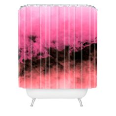 Caleb Troy Zero Visibility Highlighter Dust Shower Curtain | DENY Designs Home Accessories