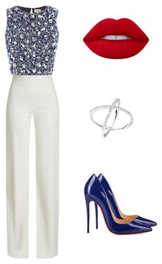 """Untitled #57"" by bjorkman-veera on Polyvore featuring Brandon Maxwell, Christian Louboutin, Lace & Beads, Michael Kors and Lime Crime"