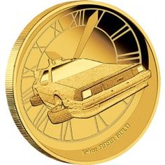2015 Back To The Future DeLorean Gold Proof Coin. Thirty years after the box office success of Back to the Future, Direct Coins is excited to present the 2015 Back to the Future DeLorean Gold Proof Coin. From the Academy Award-winning filmmak Christmas Competitions, Delorean Time Machine, Gold And Silver Coins, Proof Coins, Gold Bullion, Rare Coins, Back To The Future, Perth, Steven Spielberg