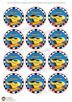 Kit Imprimible Hot Wheels Decoración + Candy Bar Nenes - tienda online Hot Wheels, Bar, Birthday, Cakes, Printable Tags, Printable Birthday Invitations, Blade, Parties Kids, Tent