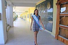 Visita de la bella Kerelyne Campigotti, ganadora del #MissTeen #Honduras 2015 a #UTH
