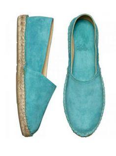 Lika Mimika Leather Espadrilles - Turquoise