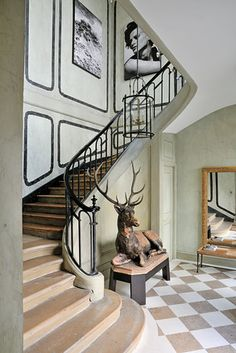 Eclectic, classic, artistic Foyer | Christian Liaigre | WSJ.com...