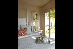 Sarah's Cottage - whitewashed pine plank walls