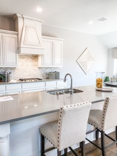 Kitchen envy at its finest. Spacious island for entertaining! Our Classic Series Bellflower in Fox Hollow. Bloomfield Homes, Natural Light, Home Kitchens, Envy, Neutral, Entertaining, Island, Table, Furniture