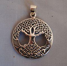Celtic Tree of Life Pendant in Sterling Silver by LeDragonArgente, $60.00