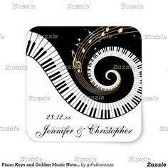 Musical Notes Wedding Invitation Music Wedding Invitations