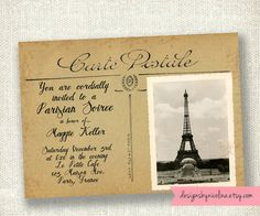 Carte Postale Vintage French Postcard by designsbynicolina on Etsy, $12.00